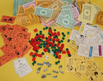 VINTAGE Monopoly game pieces