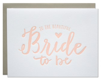 Bride to Be Letterpress Card