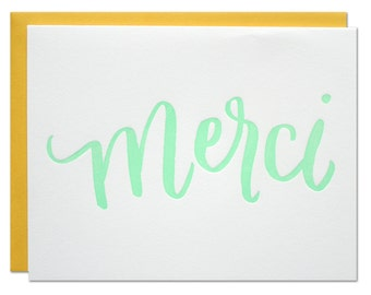 Merci Letterpress Card