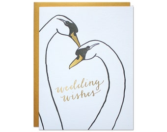 Wedding Wishes Foil Card