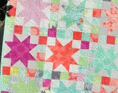 PDF Baby QUILT PATTERN....Quick and Easy...Layer Cake and Fat Quarter friendly, Sara's Star