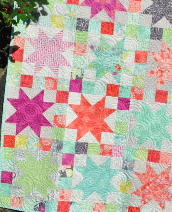 Pdf Baby Quilt Pattern Quick And Easy Layer Cake And Fat