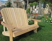 Adirondack Love-seat KIT unfinished - 99% CLEAR WOOD