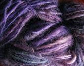 STORMY SKY Handspun Wool Yarn Fleecespun Coopworth 100yds 3.1oz 8wpi aspenmoonarts knitting