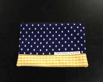 TUTONE vintage polyester zip pouch in Sunshine and Rain