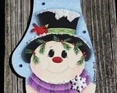 Mitten Snowman Ornament Renee Mullins design