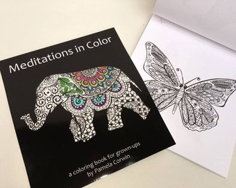 Adult Coloring Book, Meditations in Color