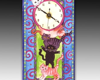 Stack o' Cats Clock