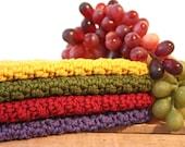 Kitchen Dishcloths Crochet Dishcloth Scrubbies Cotton Washcloth  pick the size