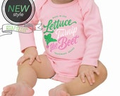lettuce turnip the beet ® trademark brand - cotton - pink cotton long sleeve bodysuit