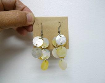 NAOMI . mother of pearl chandelier earrings