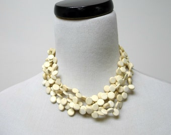 SALE!!! . LEILANI . 4 tier coco shell necklace / choker