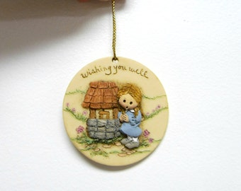 La Berger . 1985 Wishing You Well Ornament . Painted by Elaine 1992