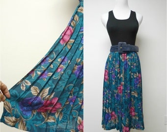ELECTRIC YOUTH . electric pleats floral skirt . size 12