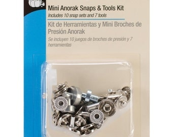 Dritz - Mini Anorak Snap s and Tools Kit - Size 12mm - Nickel