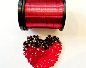 Wire & Crystal Starter Kit - Red/Sweetheart plus bonus pattern