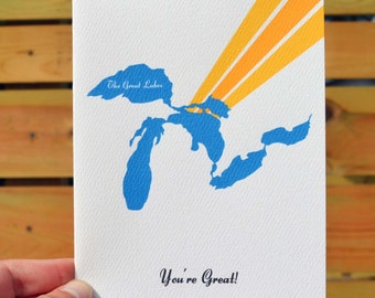 Great Lakes Notecard Set (set of 6)