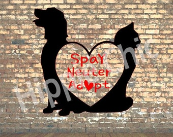 Spay neuter adopt decal