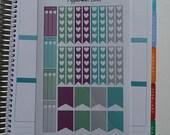 Purple Green Grey Weekly Spread Planner Stickers for Erin Condern Planner
