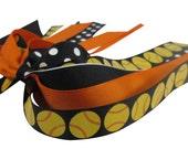 Glitter Softball Bow, Hair Ponytail Holder Streamer for Softball or Baseball Team Colors Girls, Bling Hair Accessory for Gift