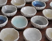 Tiny Geode Bowl - Choice of Color Small White Ceramic Bowl Porcelain Bowl