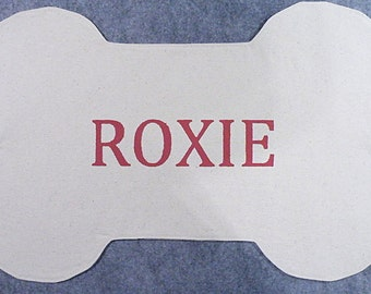 Personalized Dog Bone Placemat - Natural