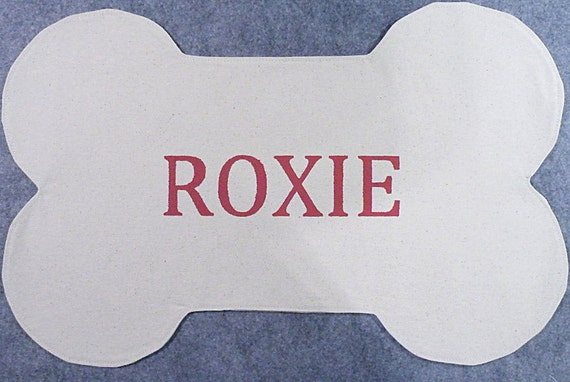 Personalized Dog Bone Placemat Natural