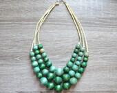 Kelly Green Statement Necklace - Bib Necklace - Chunky Necklace