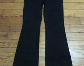SALE Hippie Boho Black Flared Bell Bottom Pants Jeans 4