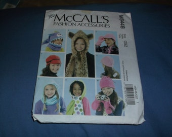 McCalls Fashion Accessories M6448 childs Fashion hats
