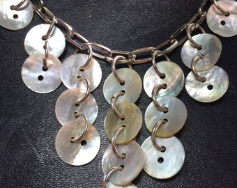 Antique Mother of Pearl Button Necklace