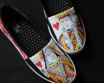 King & Queen of Hearts shoes - size 7