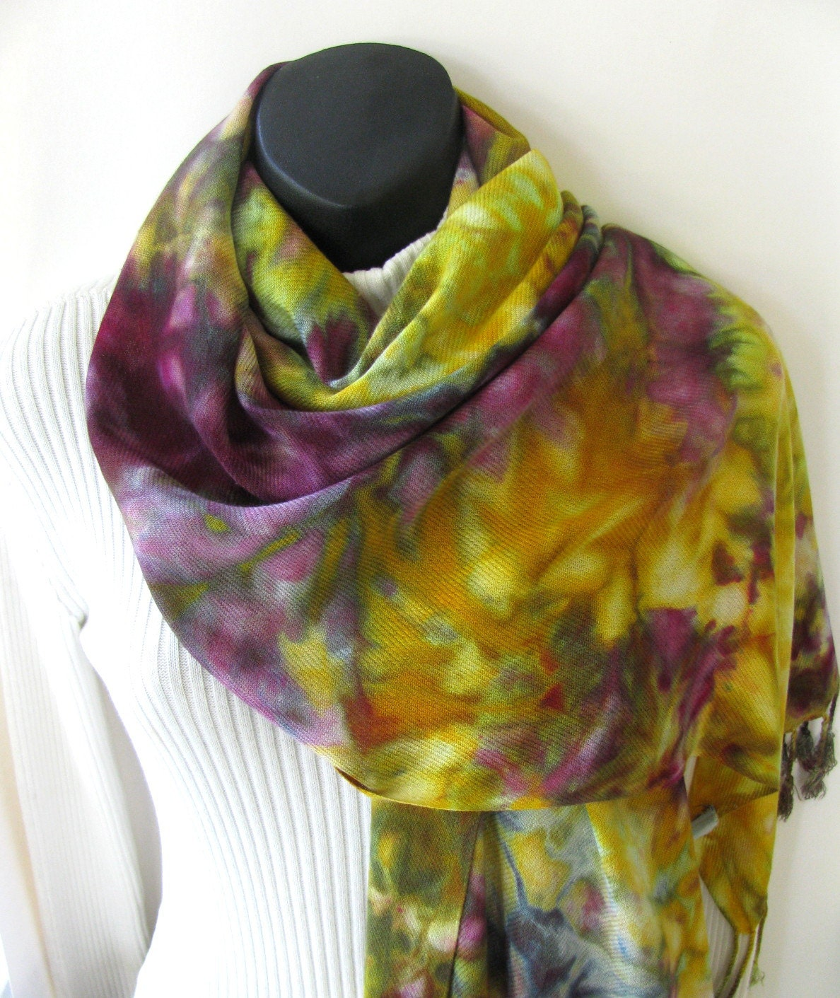 autumn womens scarf for fall boho fringed scarf eggplant