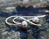 Silver Ball Sterling Dangles - tiny sterling silver earrings