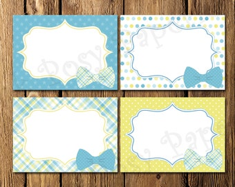 Printable Little Man Baby Shower Food Labels - Instant Download