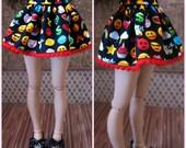 MiniFee Slim MSD Emoji Con Short Skirt by Tickled Pink by Julie
