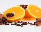 Orange Spice handmade vegan soap with coconut milk deeply DISCOUNTED