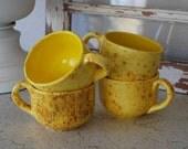 Vintage Mid Century Modern Arnel's Pottery Mugs Cups Splattered ~ 4