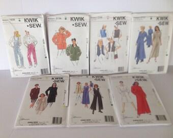 Ladies Kwik Sew Patterns Sizes:  XS-S-M-L-XL