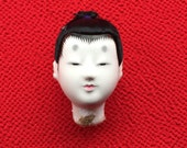 Japanese Doll Head - Hina Matsuri - Japanese Doll Festival - Boy Head - Man's Head D12-11