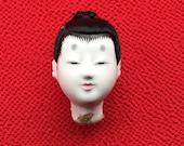 Japanese Doll Head - Hina Matsuri - Japanese Doll Festival - Boy Head - Man's Head D12-11