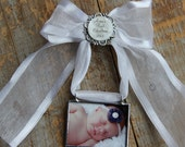 Babys First Christmas Custom Personalized Photo Ornament, My First Christmas Ornament, New Baby Keepsake, Birth Announcement Ornament