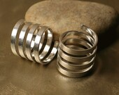 Silver plated brass spiral ring, one piece (item ID SPHN00484)
