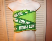 Clearance items 70% off - DO NOT PINCH cut couture St Patricks Day convertible tube top drawstring micro mini skirt