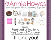 Reserved Listing by Annie Howes on Etsy.
