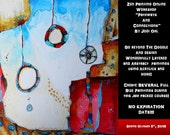 SALE!!!*Zen Painting Online Workshop Abstract Painting E-Course using Acrylic Paint by Jodi Ohl