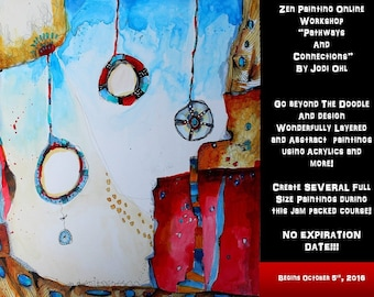 Art Class: Zen Painting Online Workshop Abstract Painting Course using Acrylic Paint by Jodi Ohl Modern contemporary art