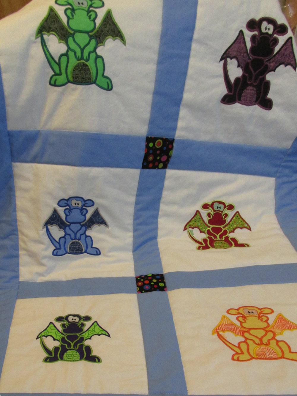Dragon Baby Quilt Medieval nursery bedding baby shower gift