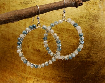 Crazy sexy Hoops-Silverite, goldfill
