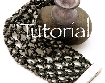 Hubble Stitch Fire Polish and Seed Bead Bead Bracelet Tutorial At the Opera